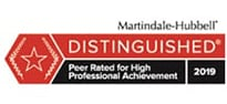 Distinguished | Martindale Hubbell | 2019